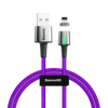 Fioletowy \ 1m \ USB - Apple Lightning